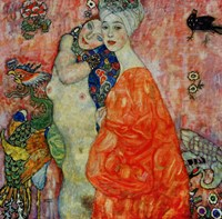 Girlfriends-1917 by Gustav Klimt, 1917 - various sizes