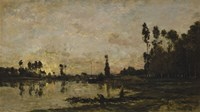 Setting Sun Over The Oise, 1865 by Charles Francois Daubigny, 1865 - various sizes