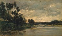 The Riverbank by Charles Francois Daubigny - various sizes