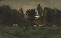 The Graveyard At Villerville (Calvados), 1875 Fine Art Print