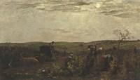 Wine Harvest In Burgundy, 1863 Fine Art Print