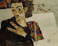 Self-Portrait With Spread Fingers, 1911 by Egon Schiele, 1911 - various sizes
