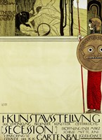 """Poster for the First Art Exhibition of the """"""""Secession"""""""" Art Movement by Gustav Klimt - various sizes"""