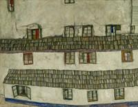 Old Houses (Krumlov, Bohemia), 1917 by Egon Schiele, 1917 - various sizes