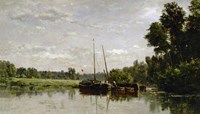 The Barges, 1865 Fine Art Print