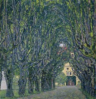 Tree-Lined Road Leading To The Manor House At Kammer, 1912 by Gustav Klimt, 1912 - various sizes