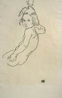Nude Child, 1917 by Egon Schiele, 1917 - various sizes