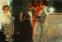 Schubert At The Piano, 1899 Fine Art Print