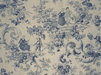 Toile Fabrics I Framed Print