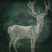 Emerald Deer Fine Art Print