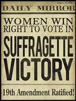 Women's Right to Vote Fine Art Print