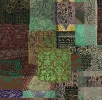 Afrikan Batik III Framed Print