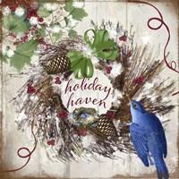 Bluebird Christmas II Fine Art Print