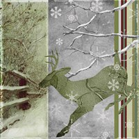 Country Christmas Deer Fine Art Print