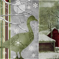 Country Christmas Duck Framed Print
