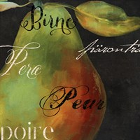 Painted Pear I Fine Art Print