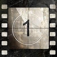 Vintage Countdown I Framed Print