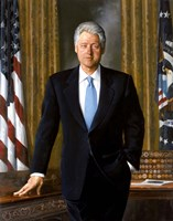 Bill Clinton in White House Fine Art Print
