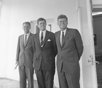 President John Kennedy and Brothers Fine Art Print