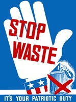 Stop Waste by John Parrot - various sizes - $47.49