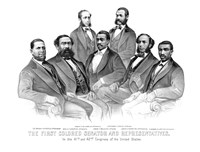First African American Senator and Representatives by John Parrot - various sizes, FulcrumGallery.com brand