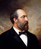 Vintage President James Garfield Fine Art Print