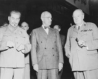 Joseph Stalin, Harry Truman and Winston Churchill by John Parrot - various sizes