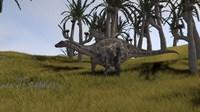 Dicraeosaurus in a Savanna Landscape by Kostyantyn Ivanyshen - various sizes, FulcrumGallery.com brand