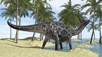 Dicraeosaurus in Shallow Water by Kostyantyn Ivanyshen - various sizes, FulcrumGallery.com brand