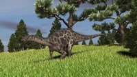 Dicraeosaurus Walking in a Field by Kostyantyn Ivanyshen - various sizes, FulcrumGallery.com brand