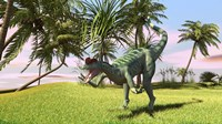 Dilophosaurus Hunting in a Field by Kostyantyn Ivanyshen - various sizes, FulcrumGallery.com brand