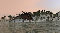 Kentrosaurus Drinking by Kostyantyn Ivanyshen - various sizes