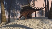 Kentrosaurus Roaming in the Tropics by Kostyantyn Ivanyshen - various sizes