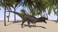 Majungasaurus in a Prehistoric Landscape by Kostyantyn Ivanyshen - various sizes