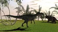 Monolophosaurus and a Einiosaurus by Kostyantyn Ivanyshen - various sizes