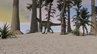 Monolophosaurus in Prehistoric Environment by Kostyantyn Ivanyshen - various sizes