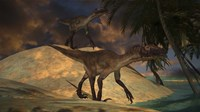 Pair of Utahraptors by Kostyantyn Ivanyshen - various sizes