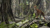 Saber-Toothed Tiger in a Forest by Kostyantyn Ivanyshen - various sizes