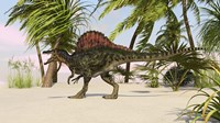 Spinosaurus Hunting for Food by Kostyantyn Ivanyshen - various sizes