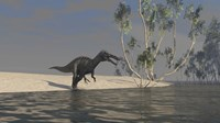 Suchomimus Hunting for Food by Kostyantyn Ivanyshen - various sizes