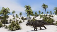 Triceratops in a Tropical Setting by Kostyantyn Ivanyshen - various sizes