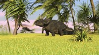 Triceratops Roaming a Tropical Environment by Kostyantyn Ivanyshen - various sizes