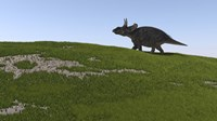 Triceratops Walking Across a Grassy Field by Kostyantyn Ivanyshen - various sizes