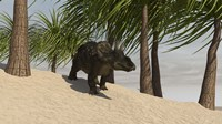 Triceratops Walking in a Tropical Environment by Kostyantyn Ivanyshen - various sizes