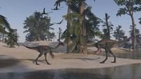 Two Gigantoraptors by Kostyantyn Ivanyshen - various sizes - $47.49