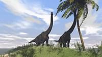 Two Large Brachiosaurus Grazing by Kostyantyn Ivanyshen - various sizes