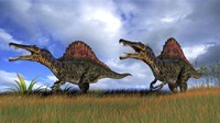 Two Spinosaurus Hunting by Kostyantyn Ivanyshen - various sizes
