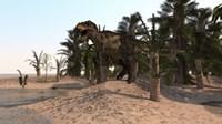Tyrannosaurus Rex Hunting in a Desert Environment by Kostyantyn Ivanyshen - various sizes
