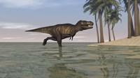 Tyrannosaurus Rex Hunting in Water by Kostyantyn Ivanyshen - various sizes