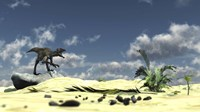 Utahraptor Bellows a Loud Roar Framed Print